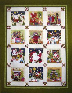 Night before Christmas, 78 x 96, by Sue Garman