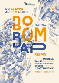 Festival of Visual Realization Boom Bap The city of Reims will live for a week to the rhythm of hip-hop in various disciplines: music, dance, visual arts, sports and gastronomy. Poster Design Layout, Graphic Design Posters, Graphic Design Illustration, Graphic Design Inspiration, Type Posters, Music Illustration, Cool Poster Designs, Typography Design Layout, Typographie Fonts