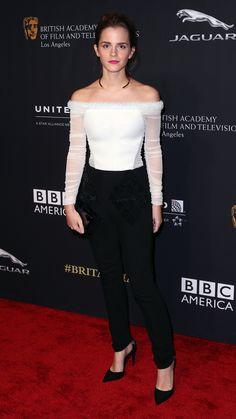 Emma wore Balenciaga for the BAFTA Los Angeles Britannia Awards. via @stylelist | http://aol.it/1y7xOP2