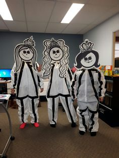 Dye stick figures costumes. So fun and easy to make.