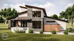 Plan Modern 4 Bed House Plan With Private Courtyard Two Story House Plans, New House Plans, Modern House Plans, Sims 4 Modern House, Split Level House Plans, Mountain House Plans, Contemporary House Plans, Modern Farmhouse Plans, Modern Exterior
