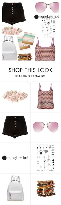 """Shades of You: Sunglass Hut Contest Entry"" by leonnaw ❤ liked on Polyvore featuring Accessorize, Lipsy, River Island, Miu Miu and In Your Dreams"