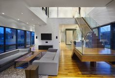 Sala Moderna en Doble Altura