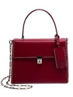 Valentino Rockstud Leather Top-Handle Satchel