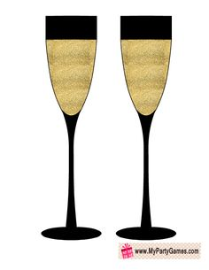 free printable champagne glasses prop photos booth photo booth props new year props