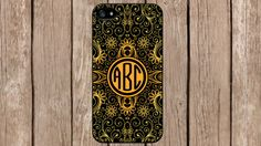 Personalized Monogram Ornamental Floral Pattern for iPhone 4/4s/5/5s/5c Samsung Galaxy S3/S4/S5/Note 2/Note 3 by TopCraftCase, $6.99