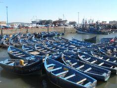 Fishing boats in Essaouira  http://www.vagobond.com