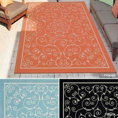 Shop for Rug Squared Palmetto Scroll Indoor/Outdoor Area Rug (7'9 x 10'10). Get free shipping at Overstock.com - Your Online Home Decor Outlet Store! Get 5% in rewards with Club O!