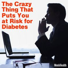 When you're frazzled at the office, your heart rate might not be the only thing spiking: Working a stressful job could raise your risk of diabetes, finds new German research. http://www.menshealth.com/health/crazy-thing-that-puts-you-at-risk-for-diabetes?cid=soc_pinterest_content-health_aug14_diabetesrisk