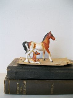 Vintage Collectible Genuine Bone China Miniature Horse by Suite22, $5.00