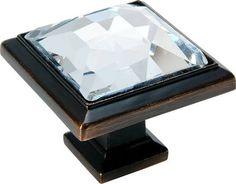 bronze crystal cabinet knob