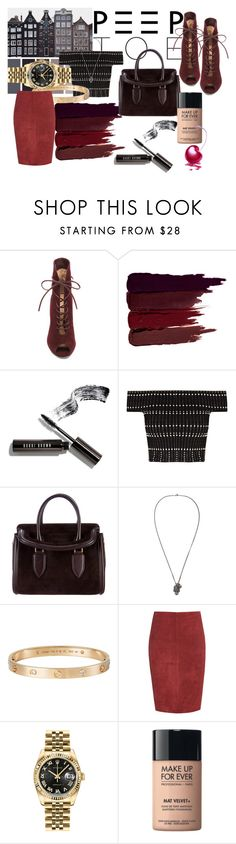 """""""Untitled #168"""" by fanny-afx ❤ liked on Polyvore featuring Gianvito Rossi, Serge Lutens, Bobbi Brown Cosmetics, Alexander McQueen, Cartier, Jitrois, Rolex and MAKE UP FOR EVER"""