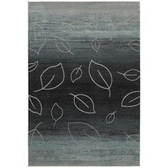 Add a spring to your step with this abstract leaf patterned rug. Lush leaves grow into a deeply dark and mysterious toned rug with hints of blue and ivory that gleam like a midsummer stormy night!