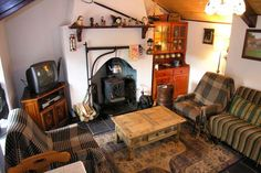 irish cottage interior living room kitchen - Google Search