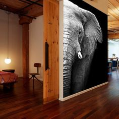 Home & Decor Interior Walls, Home Interior Design, Elephant Home Decor, Wall Art Wallpaper, Home And Deco, Home Hacks, Wall Design, Home And Living, Interior Inspiration