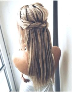 Wedding hairstyles up half up down straight with braid/ Wedding hairstyles for l. - Wedding hairstyles up half up down straight with braid/ Wedding hairstyles for l… - Vintage Hairstyles, Hairstyles Haircuts, Weave Hairstyles, Straight Hairstyles, Simple Hairstyles, Easy Hairstyle, Medium Hairstyles, Wedding Hairstyles Half Up Half Down, Half Up Half Down Hair