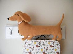 Sausage dog cushion - dachshund (shaped pillow, soft toy, christmas gift idea)