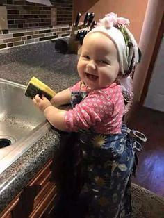 """~ I'm Mom""""s Kitchen helper !!! ~"""