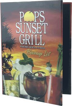 Drink Menu Cover by Menu Designs. Create an attractive arrangement of your menu items with menu covers from Menu Designs. We have a large selection of menu covers made from the finest materials. Whether you're a café interested in menu boards or a five star dining establishment who's looking for leather menu covers, we're sure you'll find the perfect menu covers for your restaurant.