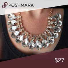 Pear Drop Crystal Statement Necklace Measurements coming soon! Bedecked & Bedazzled Jewelry Necklaces