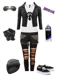 """""""Gogo Tomago-Big Hero 6"""" by conquistadorofsorts ❤ liked on Polyvore featuring R13, Boutique, Doublju, Karl Lagerfeld, Vans and Dolce&Gabbana"""
