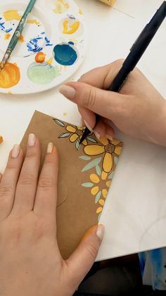 Fun Diy Crafts, Diy Arts And Crafts, Paper Crafts, Mail Art Envelopes, Karten Diy, Pen Pal Letters, Envelope Art, Guache, Diy Canvas Art