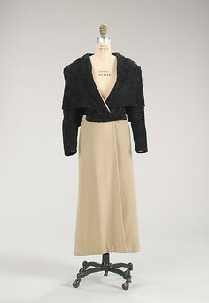 Evening coat Design House: House of Lanvin  Designer: Jeanne Lanvin  Date: fall/winter 1932–33 Culture: French Medium: wool, fur Accession Number: 2009.300.96a, b