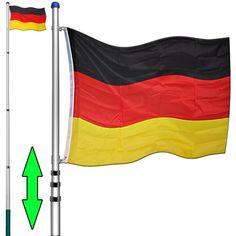 Teleskop Fahnenmast 6,30m Aluminium Flaggenmast Mast Flagge inkl Deutschlandfahne und Bodenhülse: Amazon.de: Garten http://amzn.to/2pA5X8y