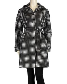 da8bd35068 Capelli New York Checked Raincoat - A mod black and white check print lends  a chic