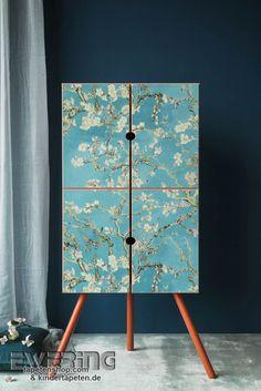 Van Gogh 18 - Hell-blau, grün und weiß bringen leichte Farbe in das Schlafzimmer.