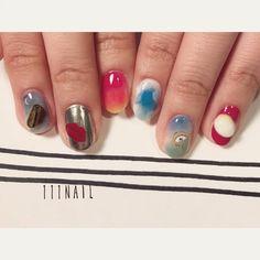 ▪️▫️▪️ #nail#art#nailart#ネイル#ネイルアート #SalvadorDalí #ダリ美術館#egg#絵画ネイル#手書きアート#ilustration#paint#ショートネイル#paint#nailsalon#ネイルサロン#表参道#絵画ネイル111 #手書きアート111