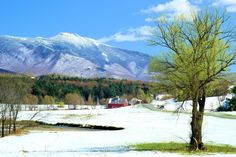 Pleasant Valley - Cambridge, Vermont  Early spring photograph of Pleasant Valley. Mt. Mansfield towers over the valley that was so properly named Pleasant Valley. If you are interested in excellent photo opportunities take the lower valley road from Cambridge to Underhill. This is absolutely one of the most scenic drives in Vermont.