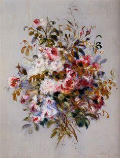"""Pierre-Auguste Renoir: """" A Bouquet of Roses"""", 1879."""