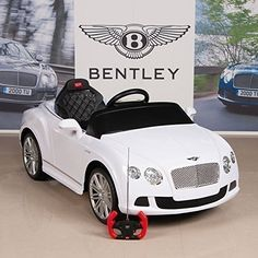 RastarUSA Bentley GTC Kids Ride On Battery Powered Wheels Car with RC Remote and Floor Mat, White >>> You can get additional details at the image link. (This is an affiliate link) Power Wheel Cars, Kids Power Wheels, Luxury Kid Cars, Lux Cars, Luxury Baby Clothes, Cute Baby Clothes, Kids Motor, Toy Cars For Kids, Rc Remote