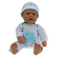 "JC Toys La Baby Hispanic 16"" Washable Soft Body Play Doll Designed by Berenguer - Blue"