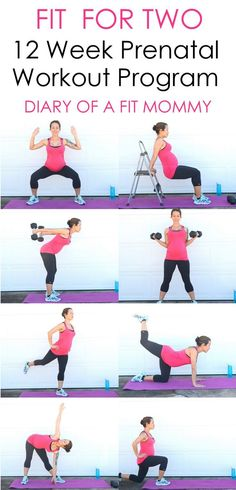 12 Week Prenatal Workout Program-no gym needed! #pregnancy