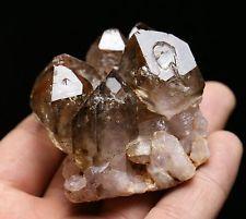 155.6 G натуральный АМЕТИСТ КРИСТАЛЛ СКОПЛЕНИЕ образец минерала это светло-коричневый