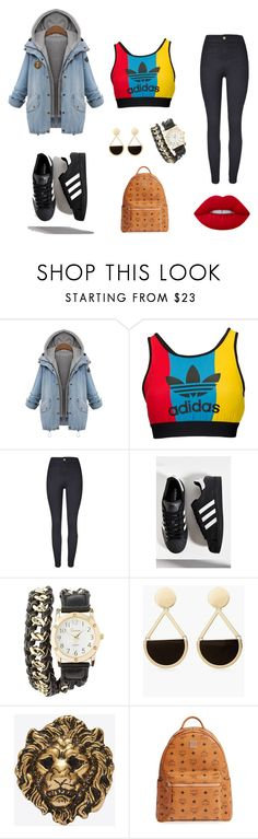 """Red Lipstick"" by kgthegemini on Polyvore featuring adidas Originals, adidas, Charlotte Russe, Chico's, Yves Saint Laurent, MCM and Lime Crime"