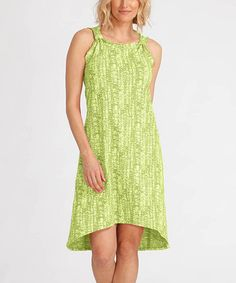Love this Pear Happy Life Mademoiselle Dress by Fresh Produce on #zulily! #zulilyfinds
