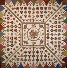 """Dancing Dollies"" quilt,  reproduction of a quilt in archival storage at Ayers House Museum, Adelaide,  South Australia."