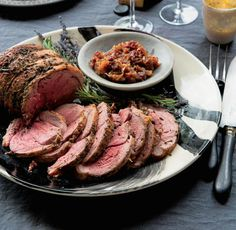 Roast Leg of Lamb with Rosemary and Lavender Recipe | http://aol.it/1sXcLg7