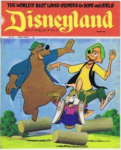 1973 UK ed. BRER Rabbit, WOLF & Brer Bear Disneyland Mag Great ART, stories #131