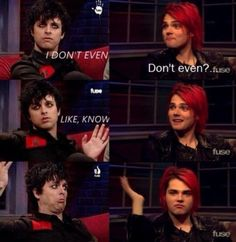 These two <3 Frerard>>> Frank's face tho XD