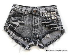 Frayed edges and silver studs, perfect for bringing out your inner rocker-chick.