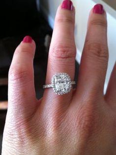 Harry Winston Wedding Band 29 Epic Cushion cut engagement rings