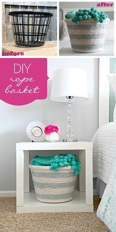 How to Make a DIY Rope Basket