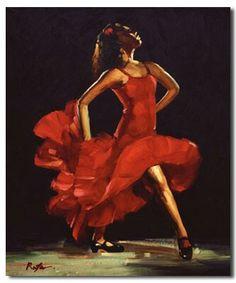 Red Flamenco dress,
