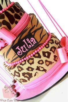 Cheetah Print Baby Shower Decorations | Zebra, Leopard, Giraffe and Cheetah Print Bat Mitzvah Cake