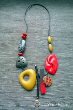 Totally crazy about these more modern pieces by Russian polymer clay artist Olga Ledneva. Visit Olga on Facebook and Flickr to see more of her beautiful work.