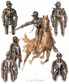 Reîtres (troopers),16th century, Liliane and Fred Funcken.